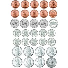 U S Coins Die Cut Magnet Sheet 33 Pcs Learning Gizmos