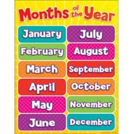 months of the year poster learning gizmos family